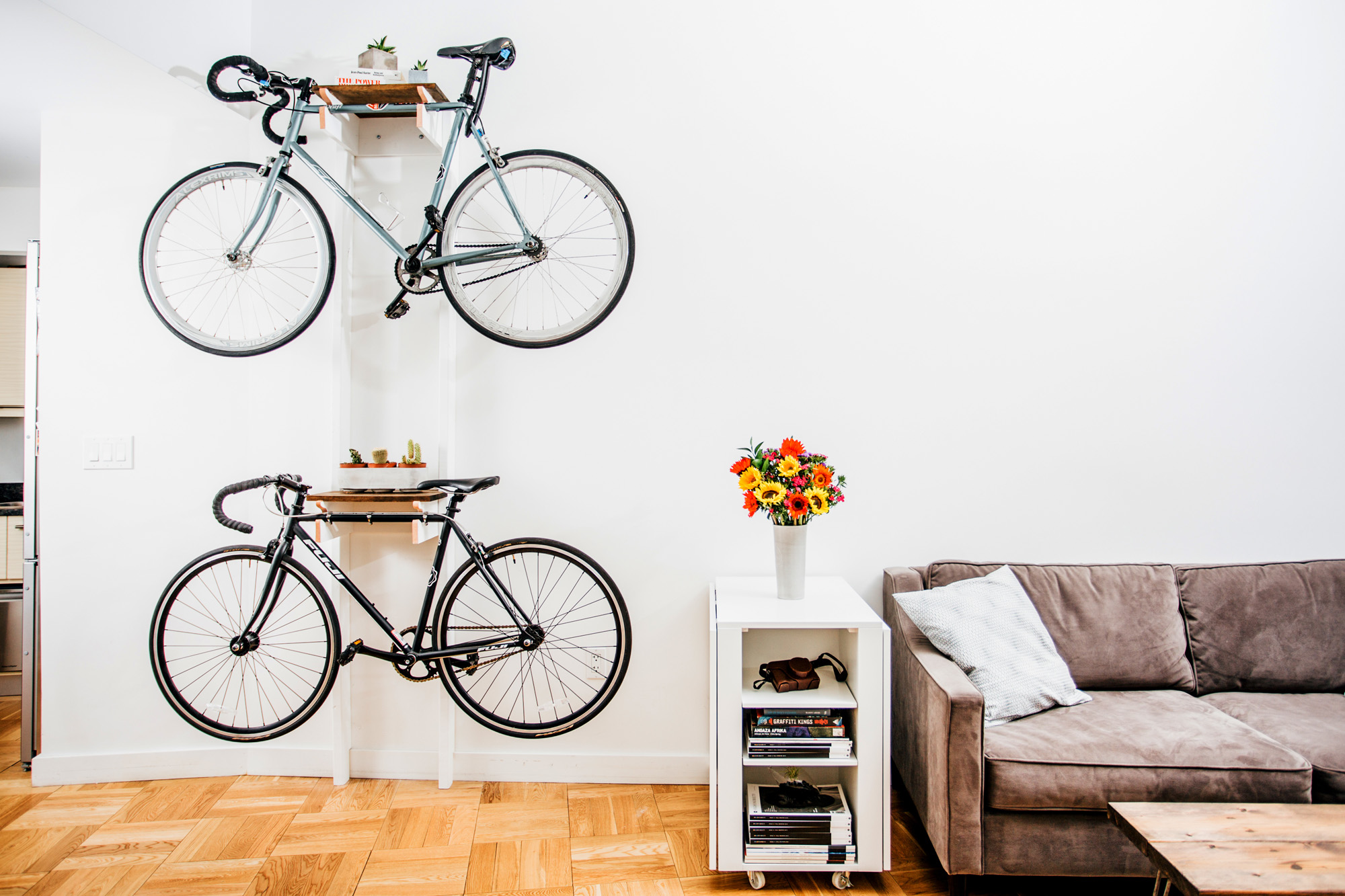 Bike Rack and Bench Built the Old Fashioned Way (from ...